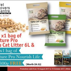 [Pet Lovers Centre Singapore] For every bag of Nurture Pro Tofu Cat Litter 6L that you purchase, you can get a bag of Nurture