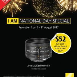 [Cathay Photo] Celebrate our nation's 52nd birthday with Nikon, as it launches its Purchase-with-Purchase (PWP) promotion on the AF