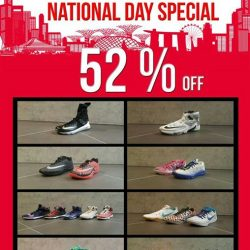 [Hoops Factory] In celebration of Singapore's 52nd National Day (9th of August), Hoops Factory Centrepoint will be having a 52% off
