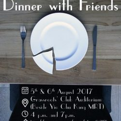 [SISTIC Singapore] Dinner with Friends, the Pulitzer winning play, opens in 24 hours and we have an ongoing FIRE SALE - which means