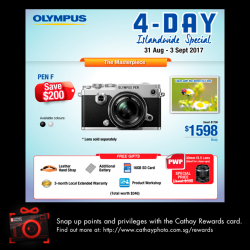 [Cathay Photo] Olympus' 4-day islandwide promotion starts NOW!