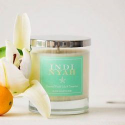 [CF Boutique] Launching exclusively at Boutiques are Indi Nyah's hand poured soy candles in Oriental Fresh Lily & Tangerine and luxurious body