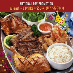 [Tony Roma's] Let's celebrate Singapore's 52nd Birthday with three special deals at https://goo.