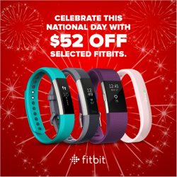 [Newstead Technologies] Celebrate this National Day with $52 OFF selected Fitbit products!