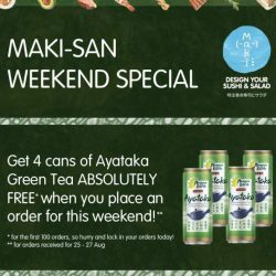 [Maki-San] FREE DRINKS THIS WEEKEND!