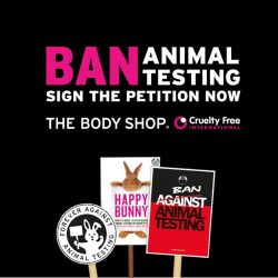[The Body Shop Singapore] Maisie Williams, Ariel Winter and Adrian Grenier has joined the fight to end animal testing in cosmetics worldwide with us