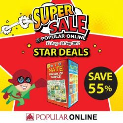 [POPULAR Bookstore] Enjoy up to 55% discount on these star deals, only during the Super Sale @ POPULAR Online!