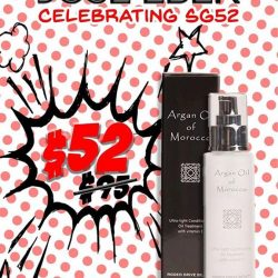 [Jose Eber] Along side our amazing National Day Promotion 🇸🇬 with $52 off selected items, our popular Moroccan Argan Oil is also going