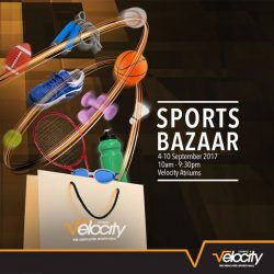 [Velocity] Look out for great deals on sports and outdoor products at Velocity Sports Bazaar!