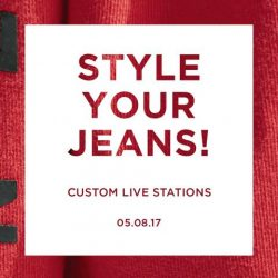"[American Eagle Outfitters] ICYMI, we're hosting our first ""Style Your Jeans"" Event this Saturday, 5 Aug, from 2 to 5pm where you"