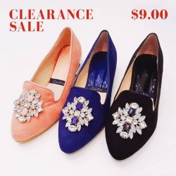 [Lavina] Our Pointed Flats with Crystals are now on SALE at $9.