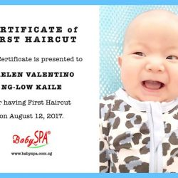 [BabySpa] Baby's First Haircut and Certificate available at BabySPA.
