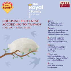 "[Eu Yan Sang] Known as the ""caviar of the east"", Eu Yan Sang's preservative-free bird's nests are manually cleaned and"
