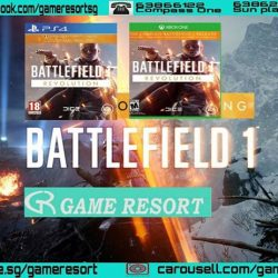 [GAME RESORT] PS4 XB1 Battlefield 1 Revolution, Join the strong Battlefield community and jump into the epic battles of The Great War