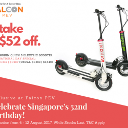 [Falcon PEV] We are kicking off our Nation's 52nd Birthday Celebration with these awesome National Day deals!