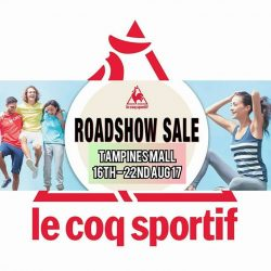 [Le Coq Sportif] Head down to tampines mall for our sales now from 16th to 22nd Aug 17.