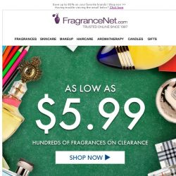 [FragranceNet] End of Season Blowout Sale + Clearance as low as $5.99