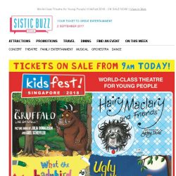 [SISTIC] World-Class Theatre for Young People! KidsFest 2018 - ON SALE NOW!