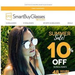 [SmartBuyGlasses] 10% OFF Sunglasses, 48 hours only. Catch me if you can ✈️️