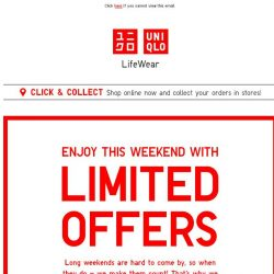 [UNIQLO Singapore] Your long weekend just got better! Here's why.