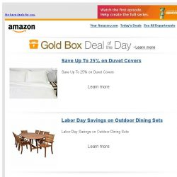 [Amazon] Save Up To 25% on Duvet Covers