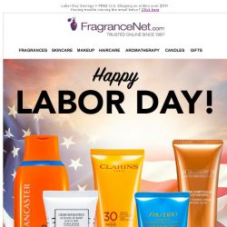 [FragranceNet] Our Labor Day Sale is Almost Over!