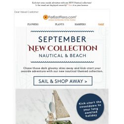 [FarEastFlora] Kickstart your seaside adventure with our NEW Nautical collection!