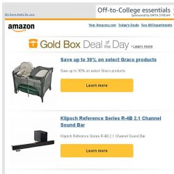 [Amazon] Save up to 30% on select Graco products