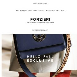 [Forzieri] Your $500 New Season Gift is here