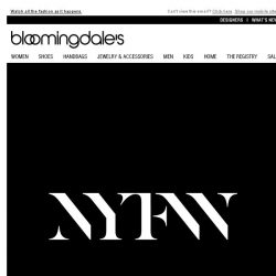 [Bloomingdales] It's NYFW! We're Sharing Our Front-Row View