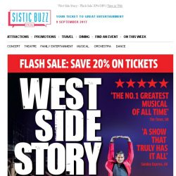 [SISTIC] West Side Story - Flash Sale 20% Off!