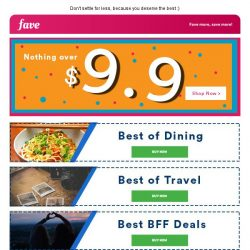 [Fave] We give you the best of lifestyle offers here!