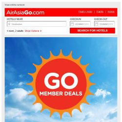 [AirAsiaGo] 🌟 Great News! Hotels on discount - Get minimum 50% off or more! 🌟