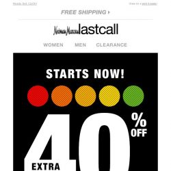 [Last Call] You've been given an extra 40% off the entire site, EFFECTIVE IMMEDIATELY --->