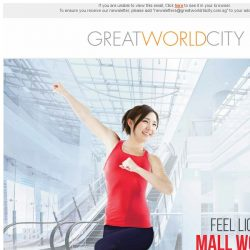 [Great World City]  Feel Lighter with Mall Workouts at Great World City on 13 September 2017!