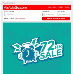 [AirAsiaGo] ⌚ Because you're an AirAsiaGo subscriber, enjoy our 3-day sale! ⌚