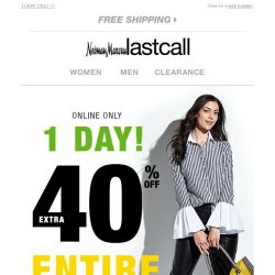 [Last Call] Extra 40% off entire site