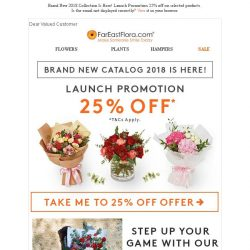 [FarEastFlora] Launch Promotion 25% Off Now! Brand New 2018 Collection is Here!