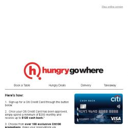 [HungryGoWhere] $120 Cashback & Over 100 Exclusive Dining Promotions at your fingertips!