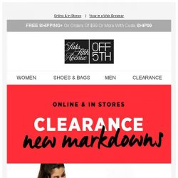 [Saks OFF 5th] Save even more on CLEARANCE + We picked styles just for YOU!