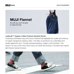 [Muji] MUJI Flannel – So soft you won't be able to resist the feel