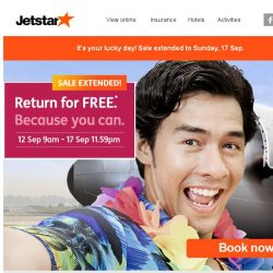 [Jetstar] Return for FREE Sale extended! Last 3 days to book your FREE flight back to Singapore!