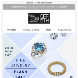 [Saks OFF 5th] Fine Jewelry Flash Sale | Extra 40% OFF