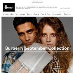 [Harrods] Burberry September Collection