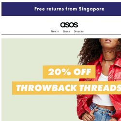[ASOS] 20% off throwback threads