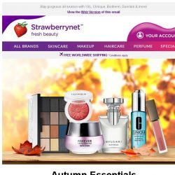 [StrawberryNet] 🍂 Update Your Beauty Wardrobe with Autumn Must-Haves Up to 60% Off