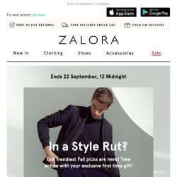 [Zalora] In a style rut? Extra 18% off your first order!