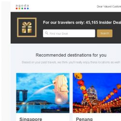[Agoda] Insider deals for you - great deals for your travels!