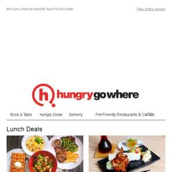 [HungryGoWhere] Splendid Lunch Deals: 1-for-1 Set Meals, 5 Course Set Lunch from $12.80++, Lunch Sets from $22++, more!