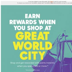 [Great World City]  Great V-aap: Earn Rewards when you Shop at Great World City!